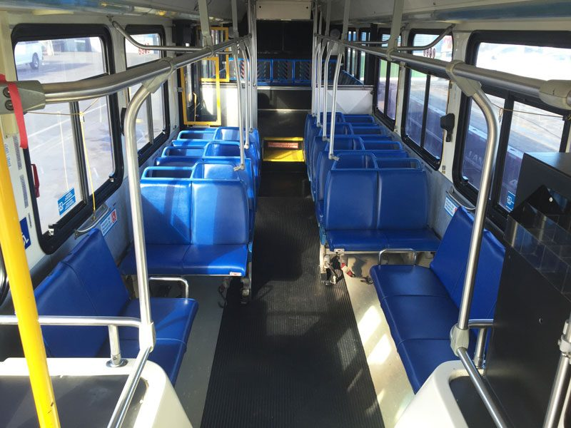2001 40ft New Flyer C-40LF CNG interior view
